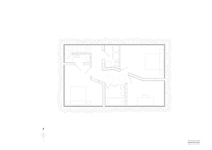 30 Cardozo Road - basement plan by Jack Woolley