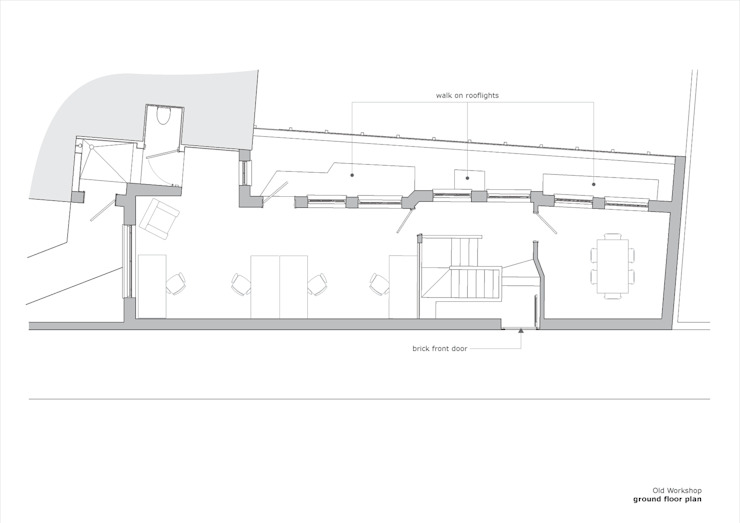 Old Workshop - ground floor plan di Jack Woolley
