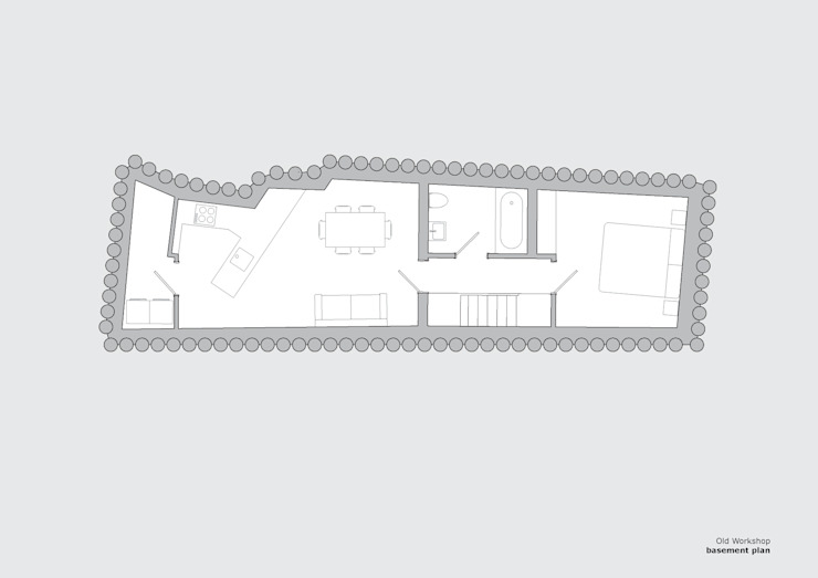 Old Workshop - basement plan Jack Woolley