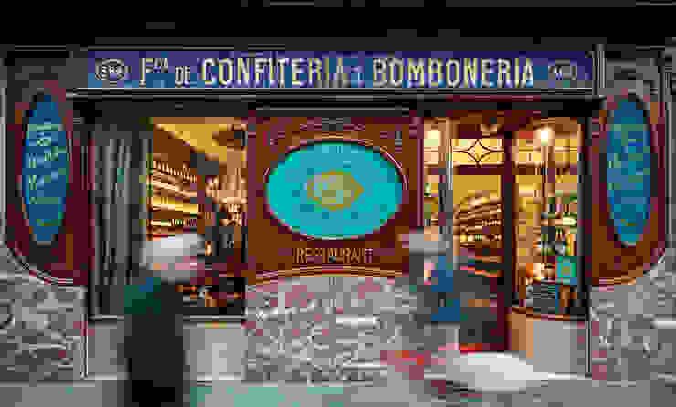 Fachada Gastronomía de estilo clásico de Carlos Martinez Interiors Clásico