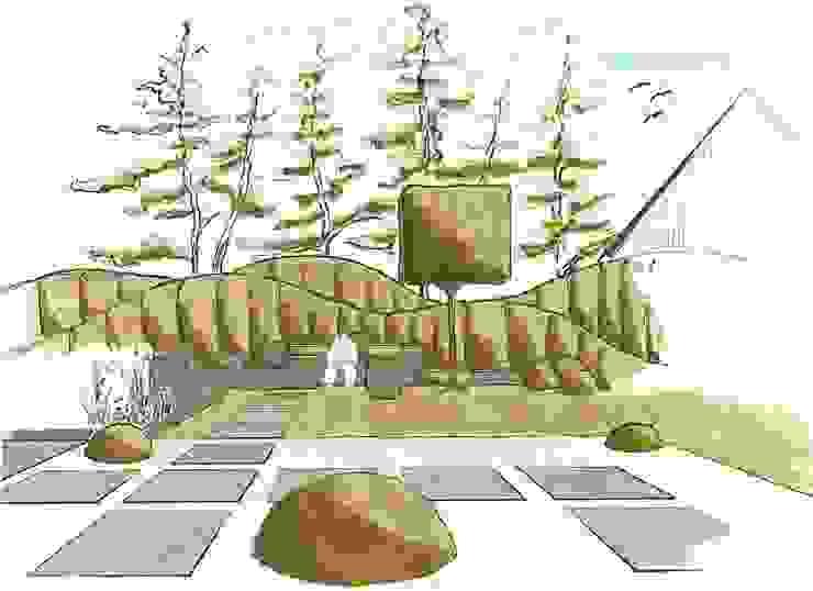 حديقة تنفيذ Naturform Japangärten & Koiteichbau, حداثي