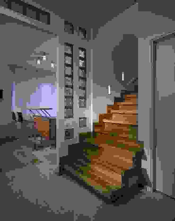 Холл. Лестница. Коридор, прихожая и лестница в стиле минимализм от KRAUKLIT VALERII Минимализм