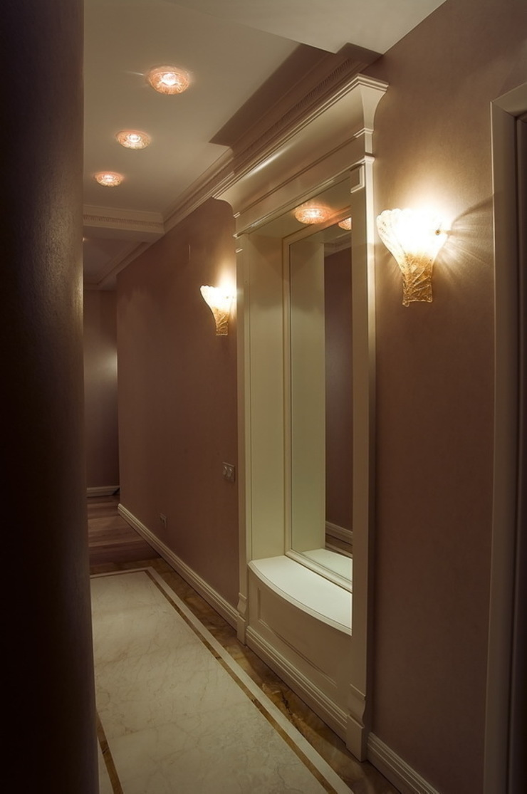 Коридор. Коридор, прихожая и лестница в эклектичном стиле от KRAUKLIT VALERII Эклектичный