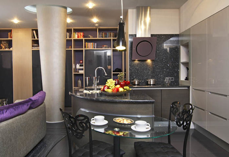 Квартира с двумя спальнями в Москве от Студия Татьяны Гребневой Эклектичный