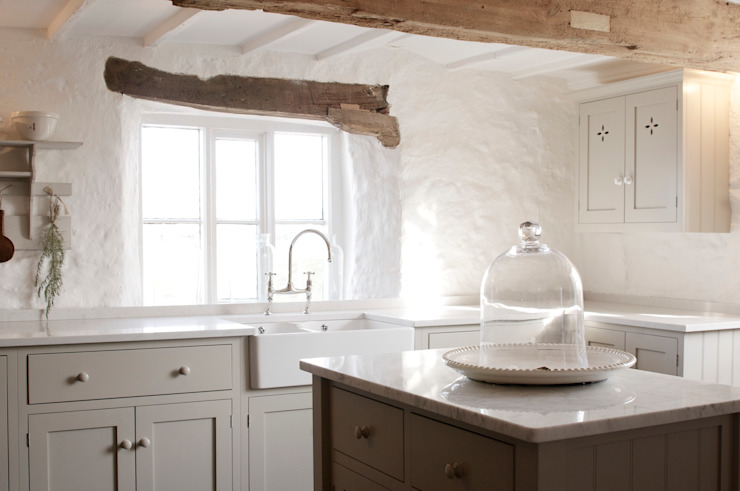 The Cotes Mill Shaker Kitchen Rustik Mutfak deVOL Kitchens Rustik