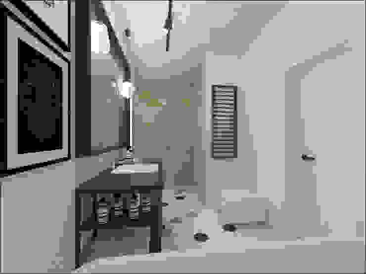 Łazienka Minimalistyczna łazienka od OHlala Wnętrza Minimalistyczny