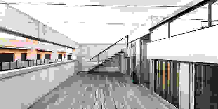 Casa Migdia Balcones y terrazas de estilo minimalista de Sau Taller d'Arquitectura Minimalista