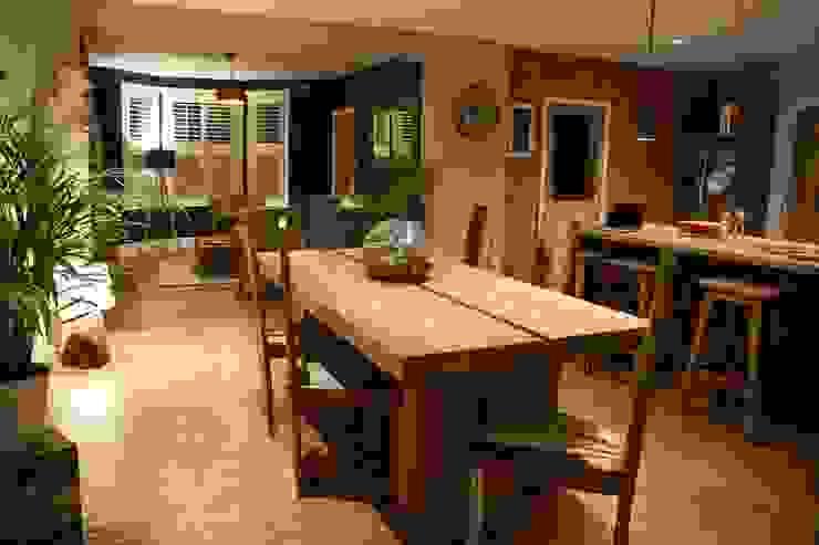 Reclaimed Teak Dining Table Nowoczesna jadalnia od BluBambu Living Nowoczesny