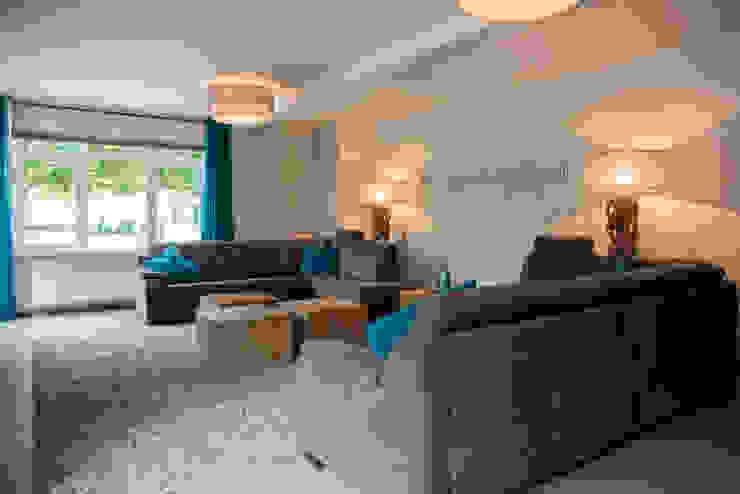 Groen blauwe draadjes tapijt Landelijke woonkamers van Hemels Wonen interieuradvies Landelijk