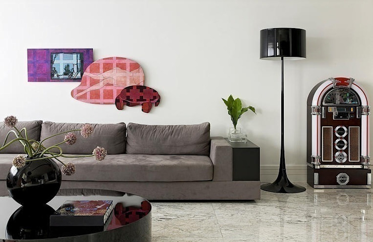 现代客厅設計點子、靈感 & 圖片 根據 STUDIO CAMILA VALENTINI 現代風