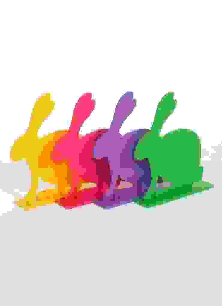 Coloury Rabbit set 4 dlg: modern  door EtalageDecoratie.nl, Modern