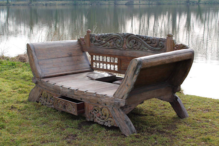 Bali majestic Day Bed Bench: rustic  by Garden Furniture Centre, Rustic
