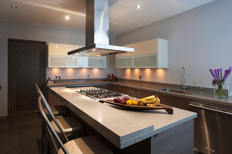 Departamento DL Cocinas modernas de kababie arquitectos Moderno