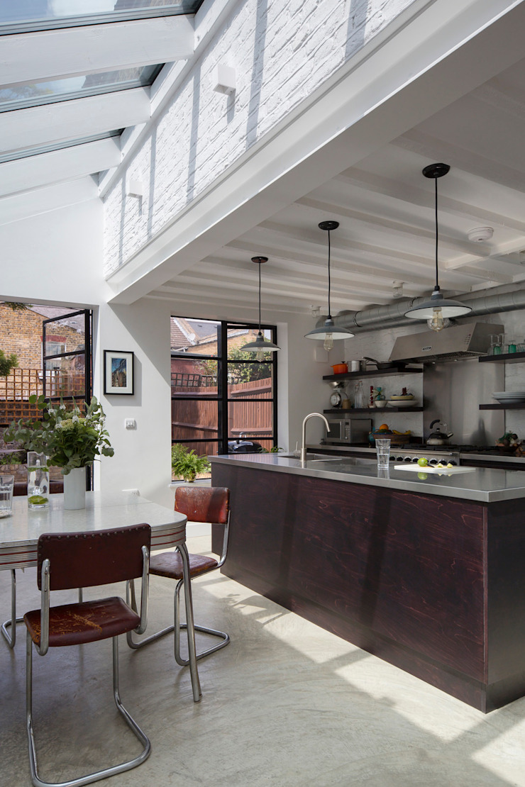 Kitchen Diner Cocinas de estilo industrial de Mustard Architects Industrial