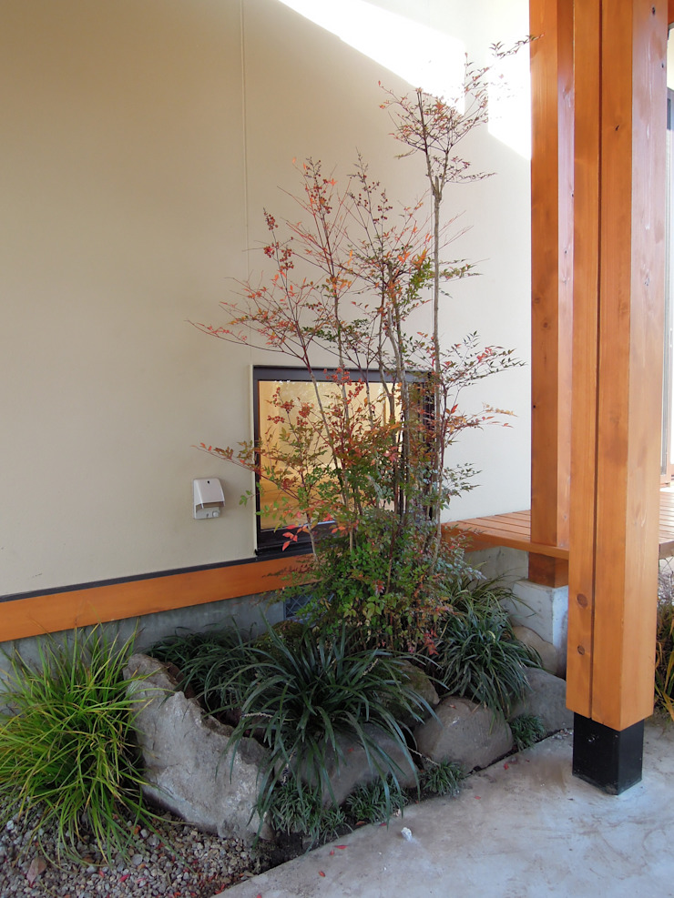 大屋根の家 坪庭 オリジナルな 庭 の 江建築設計事務所 オリジナル