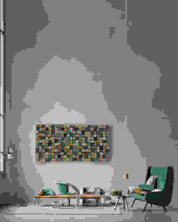 Mozaika drewniana od DrewnianaŚciana Industrialny