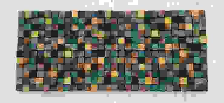 Mozaika drewniana od DrewnianaŚciana Eklektyczny
