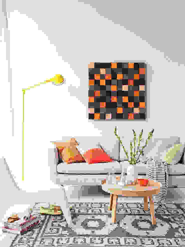 Mozaika drewniana od DrewnianaŚciana Nowoczesny