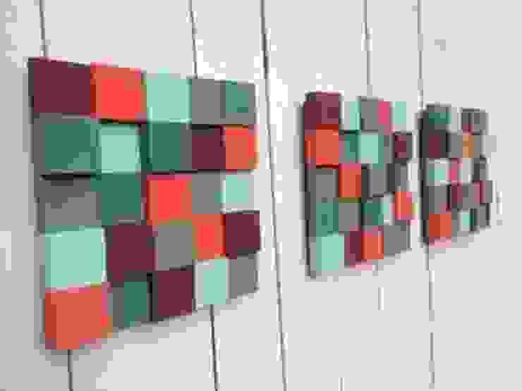 3 mozaiki od DrewnianaŚciana Nowoczesny