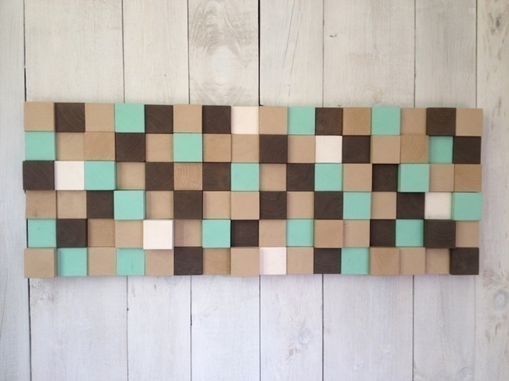 Mozaika drewniana od DrewnianaŚciana Minimalistyczny