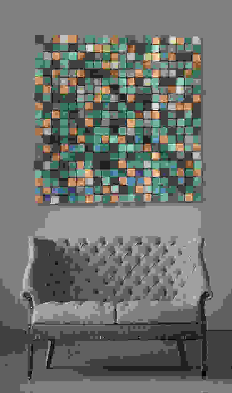 Mozaika drewniana od DrewnianaŚciana Rustykalny