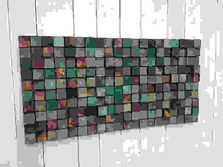 Mozaika drewniana od DrewnianaŚciana Kolonialny