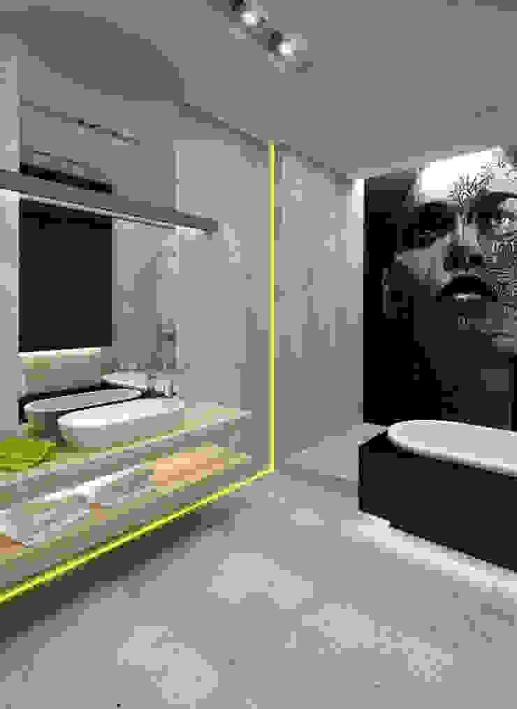 Łazienka Warszawa Minimalistyczna łazienka od The Vibe Minimalistyczny