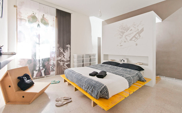 Bed and Breakfast | Home gallery, Roma Camera da letto minimalista di Spaghetticreative Minimalista
