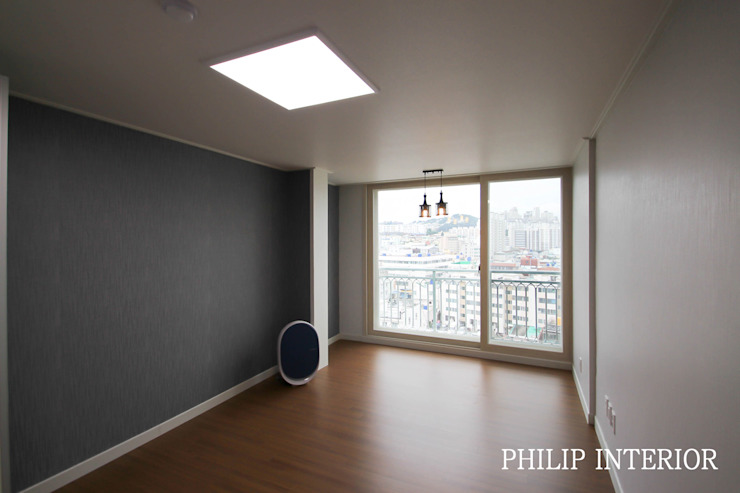 부산 부곡 LG아파트 방1: 필립인테리어의 현대 ,모던