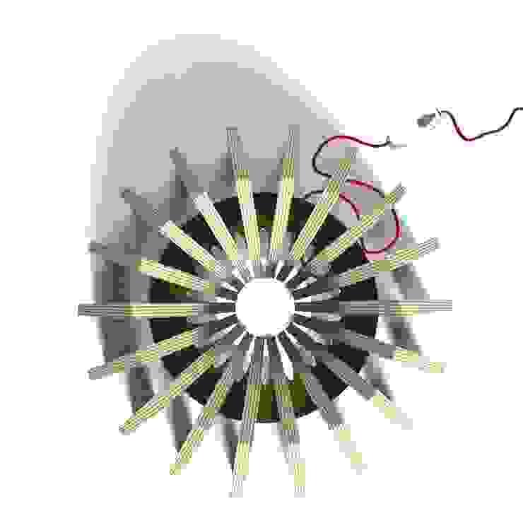 La lampe CALYX 48 par Osmose le bois Éclectique Bois composite