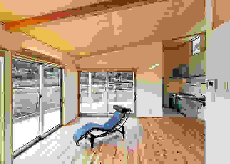 HOUSE M ラスティックデザインの リビング の 株式会社 長野総合建築事務所 ラスティック