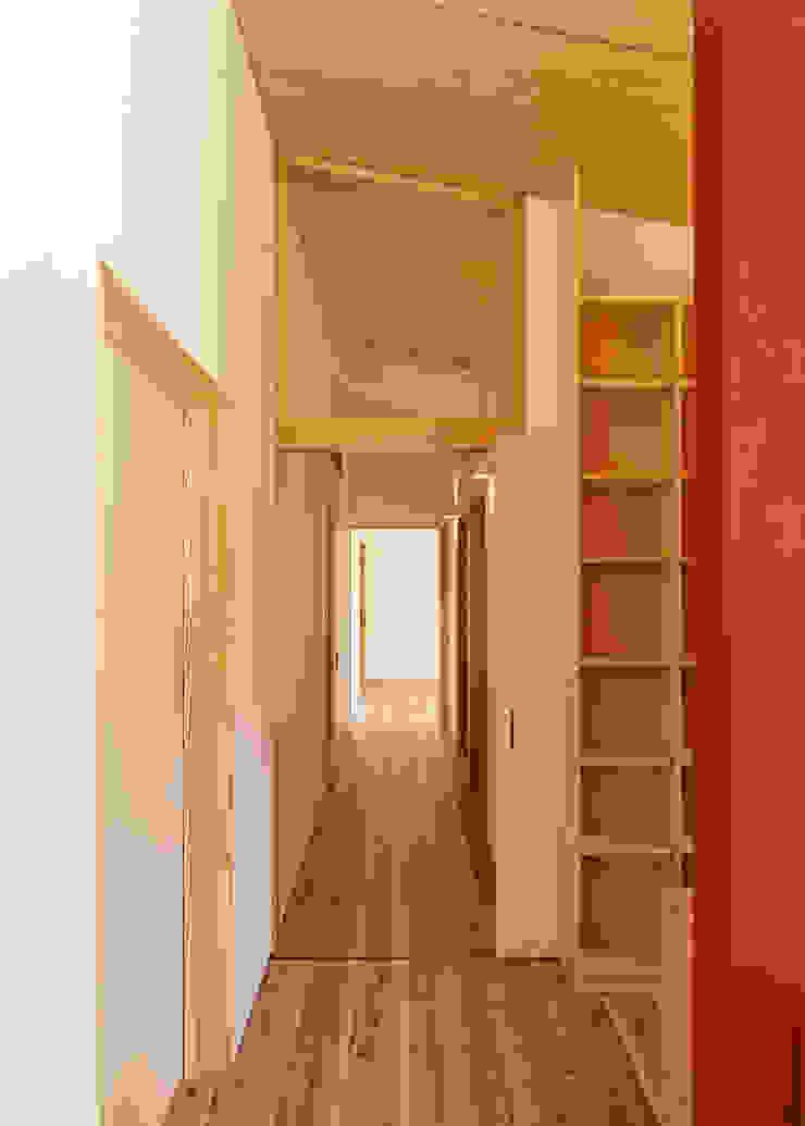 HOUSE M ラスティックスタイルの 玄関&廊下&階段 の 株式会社 長野総合建築事務所 ラスティック