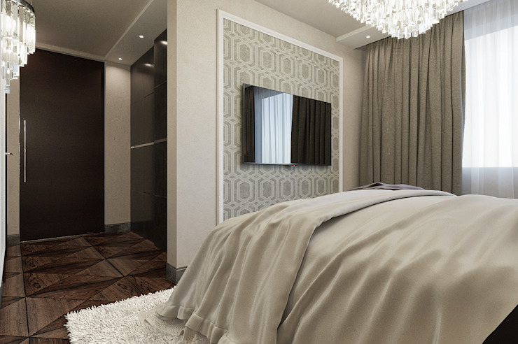 Private Residence in London Eclectic style bedroom by EVGENY BELYAEV DESIGN Eclectic