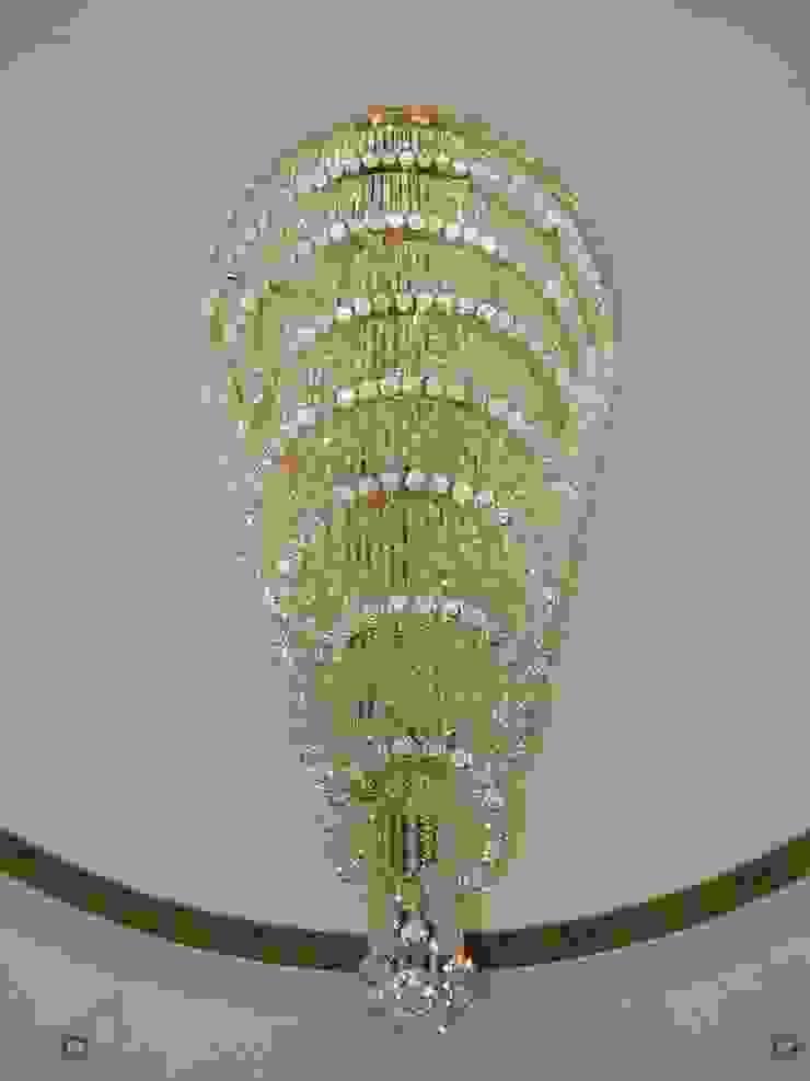 Lámpara de gotas de cristal Hoteles de estilo clásico de Bimaxlight Clásico