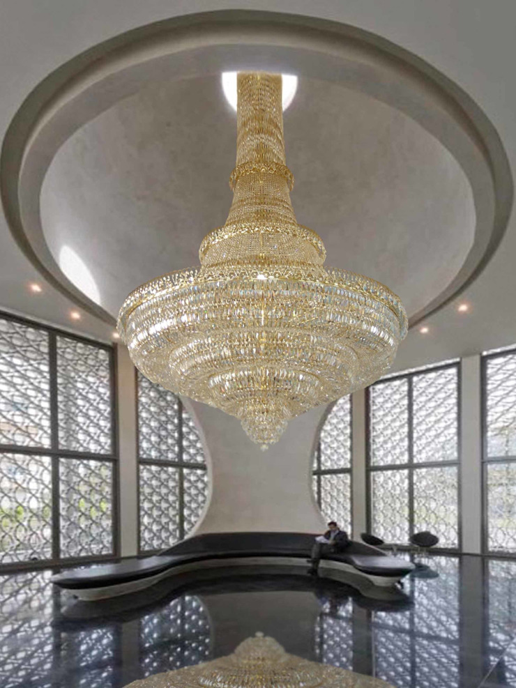 Lámpara de cristal de gran formato Hoteles de estilo clásico de Bimaxlight Clásico