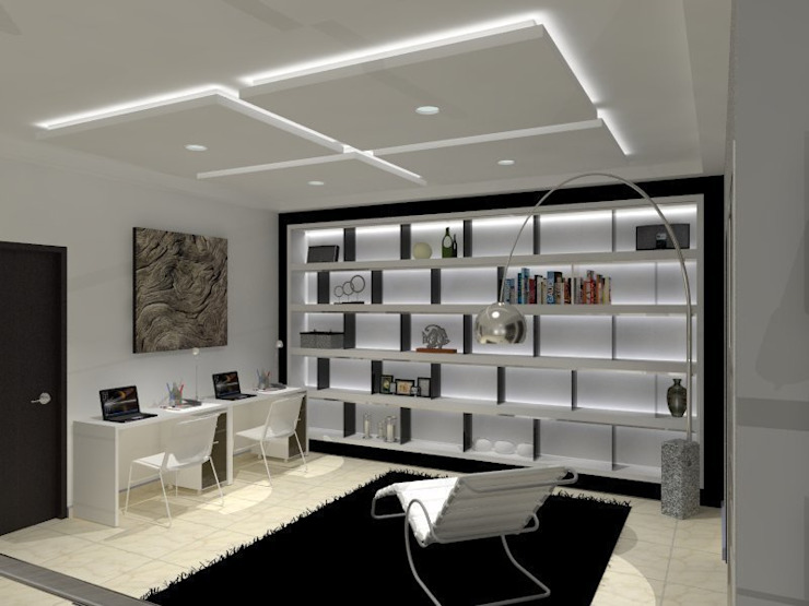 Modern Study Room and Home Office by AurEa 34 -Arquitectura tu Espacio- Modern