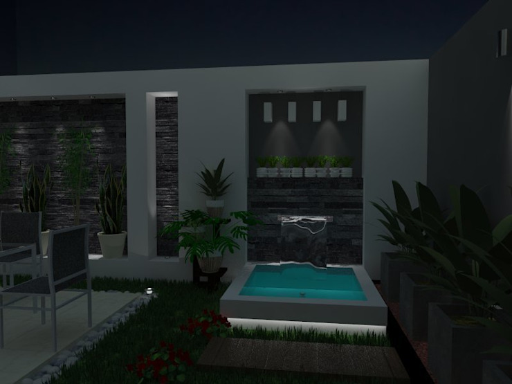 Jardines de estilo  por AurEa 34 -Arquitectura tu Espacio-