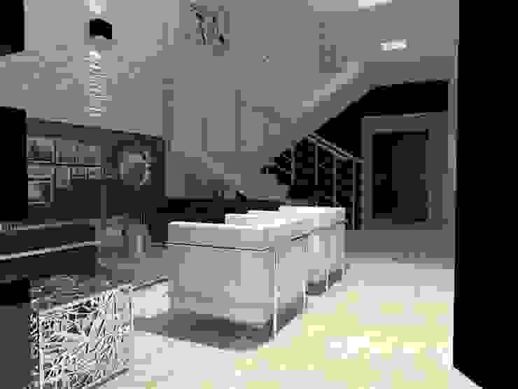 现代客厅設計點子、靈感 & 圖片 根據 AurEa 34 -Arquitectura tu Espacio- 現代風