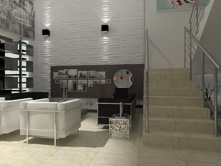 VALLE DE LAS PALMAS: Salas de estilo  por AurEa 34 -Arquitectura tu Espacio-, Moderno
