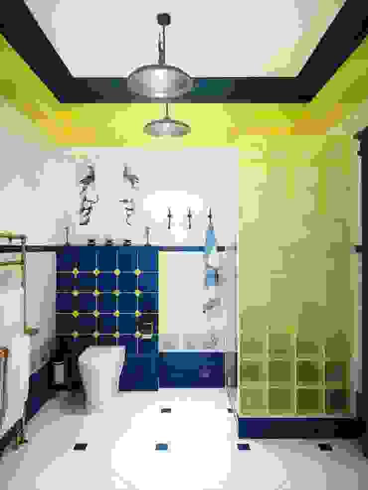 Яркая ванная Ванная комната в стиле модерн от Настасья Евглевская Модерн