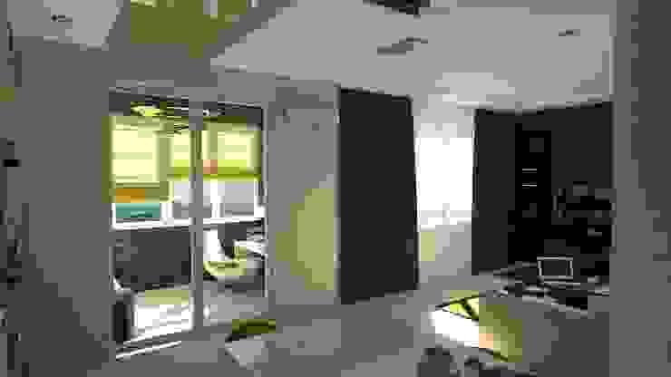 Проект двух комнатной квартиры. Гостиная в стиле модерн от Студия ремонта 'Рыжий кот' Модерн
