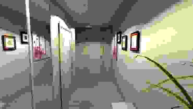 Проект двух комнатной квартиры. Коридор, прихожая и лестница в модерн стиле от Студия ремонта 'Рыжий кот' Модерн