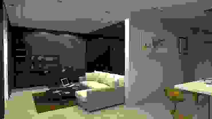 Проект двух комнатной квартиры. Столовая комната в стиле лофт от Студия ремонта 'Рыжий кот' Лофт