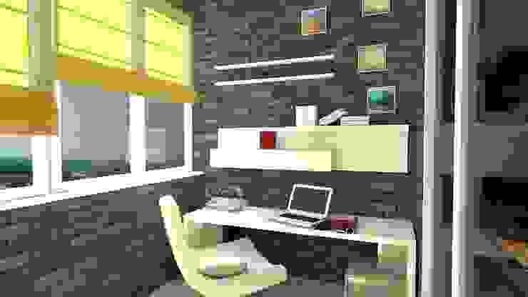 Проект двух комнатной квартиры. Балкон и терраса в стиле модерн от Студия ремонта 'Рыжий кот' Модерн