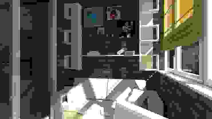 Проект двух комнатной квартиры. Балкон и терраса в классическом стиле от Студия ремонта 'Рыжий кот' Классический