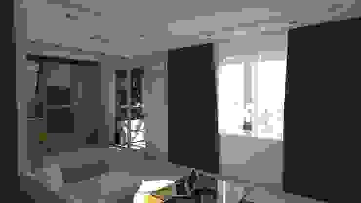 Проект двух комнатной квартиры. Гостиная в стиле минимализм от Студия ремонта 'Рыжий кот' Минимализм
