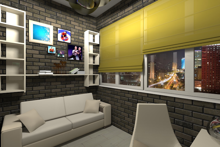 Проект двух комнатной квартиры. Балкон и веранда в стиле лофт от Студия ремонта 'Рыжий кот' Лофт