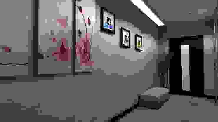 Проект двух комнатной квартиры. Коридор, прихожая и лестница в стиле минимализм от Студия ремонта 'Рыжий кот' Минимализм