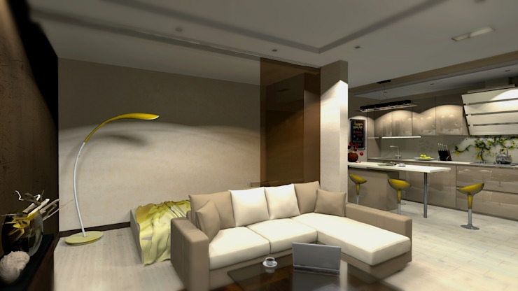 Проект двух комнатной квартиры. Столовая комната в стиле модерн от Студия ремонта 'Рыжий кот' Модерн