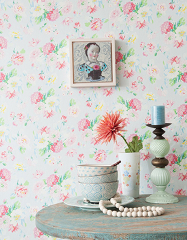 Field of Flowers Wallpaper ref 3900020: country  by Paper Moon, Country